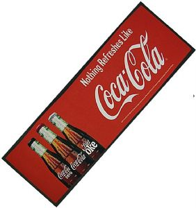 Coca Cola (Three Bottles) Large Bar Wetstop Runner